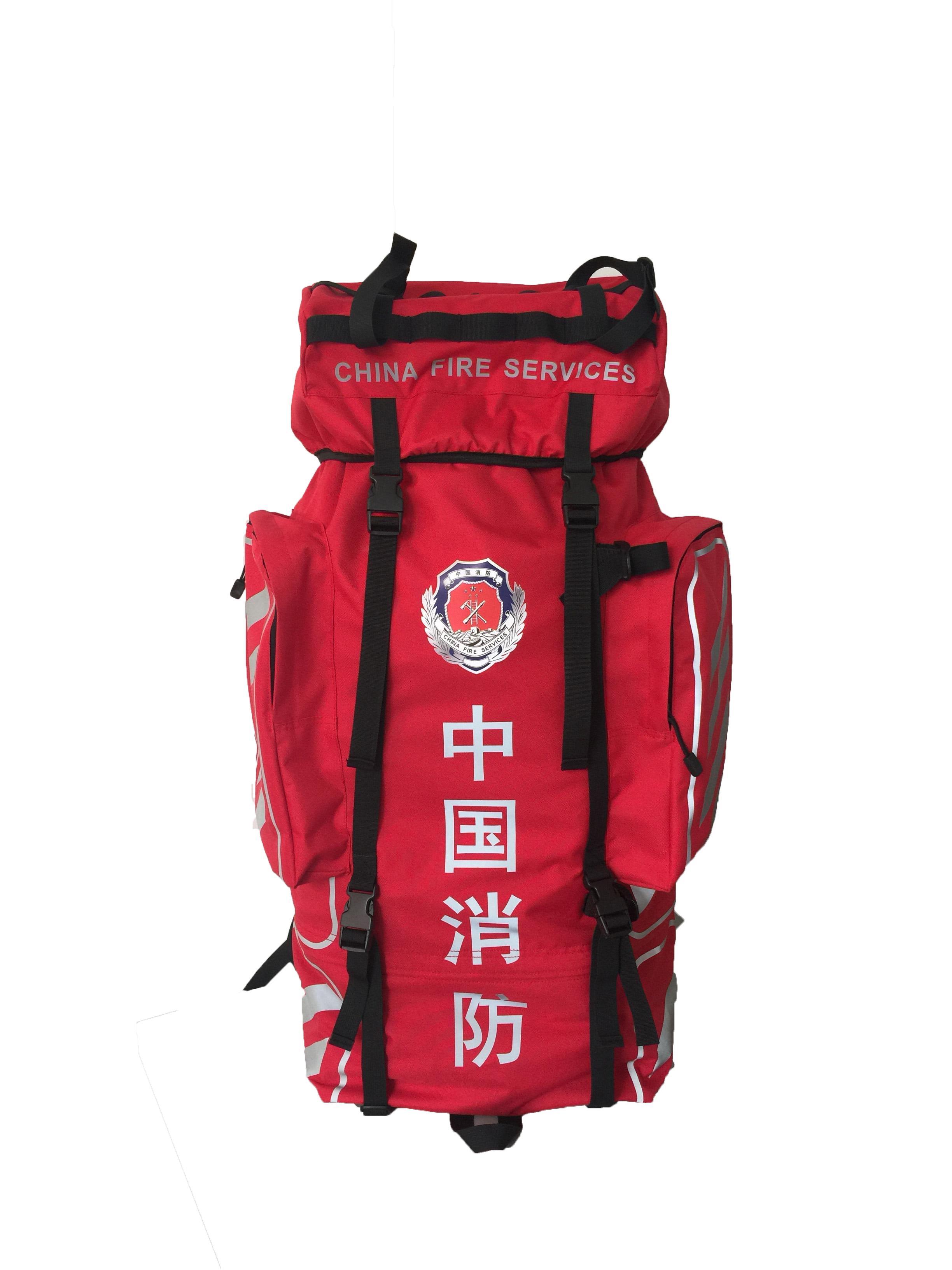 中国消防背囊双肩包标识反光