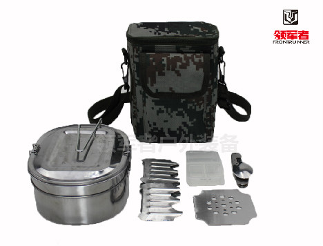 单兵餐盒包套装野营餐具